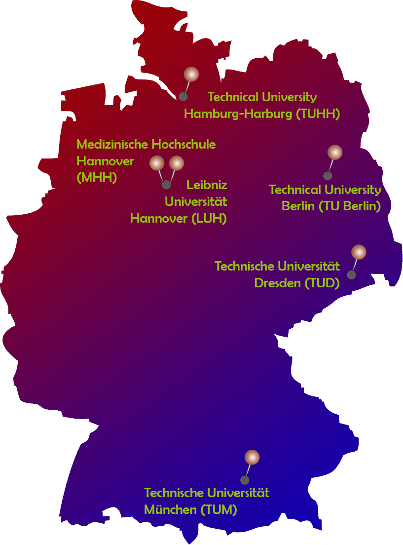 Map partners in Germany